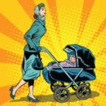 Retro Kinderwagen Pop Art