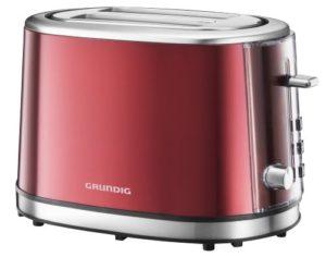 Retro Toaster von Grundig in rot-metallic
