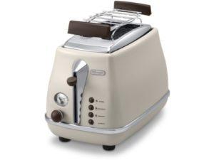 Retro Toaster von Delonghi in creme