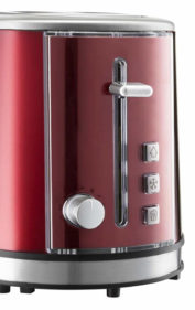 Roter Grundig Toaster im Retrostil - Detailansicht