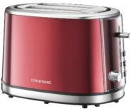 Roter Grundig Toaster im Retrostil