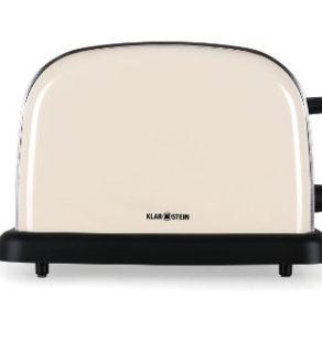 Klarstein Edelstahl Toaster im Retro-Design für Vier Toasts - Seitenansicht