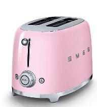 Pinker Retro Toaster von Smeg - Vorderansicht