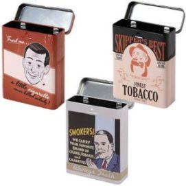Bedruckte Zigarettendosen im Vintage Retrostil
