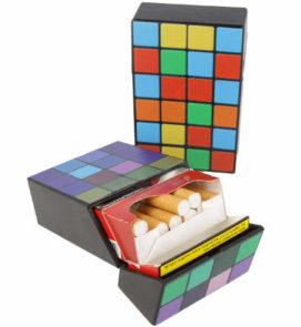 Zigarettenbox im Zauberwürfel Vintage Design