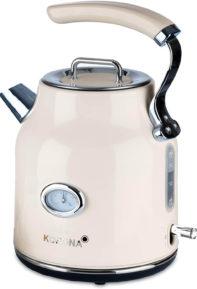 Creme farbener Retro Wasserkocher von Korona