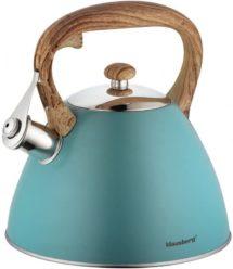 Blauer Retro Wasserkocher für den Herd