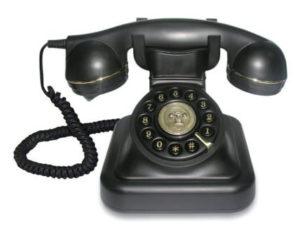 Retro Telefon - schnurgebunden mit Wählscheibe