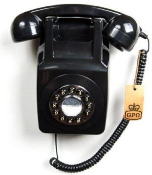 Retro Wandtelefon mit Wählscheibe