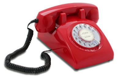 Retro Telefon 60er Jahre in rot